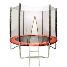 Батут детский HouseFit HSF 8FT d=2,5м с сеткой и лестницей