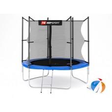 Батут детский Hop-Sport 8ft (244cm) blue с внутренней сеткой