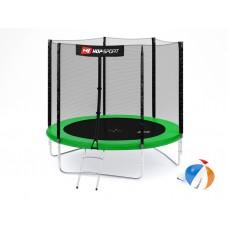 Батут детский Hop-Sport 8ft (244cm) green с внешней сеткой