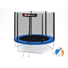 Батут детский Hop-Sport 8ft (244cm) blue с внешней сеткой