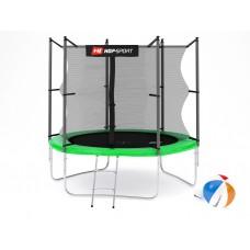 Батут детский Hop-Sport 8ft (244cm) green с внутренней сеткой