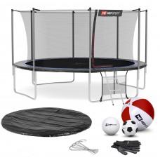 Батут детский Hop-Sport 14ft (427 см) черно-синий с внутренней сеткой