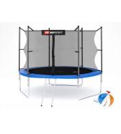 Батут детский Hop-Sport 10ft (305cm) blue с внутренней сеткой 3 ноги