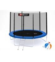 Батут детский Hop-Sport 10ft (305cm) blue с внешней сеткой 3 ноги