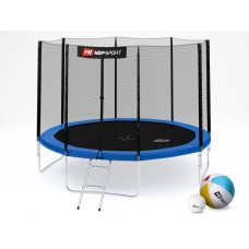 Батут Hop-Sport 10ft (305cm) blue с внешней сеткой 4 ноги