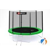 Батут детский Hop-Sport 10ft (305cm) green с внешней сеткой 3 ноги