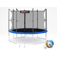 Батут детский Hop-Sport 10ft (305cm) blue с внутренней сеткой 4 ноги