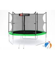 Батут детский Hop-Sport 10ft (305cm) green с внутренней сеткой 3 ноги