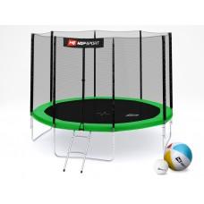 Батут детский Hop-Sport 10ft (305cm) green с внешней сеткой 4 ноги