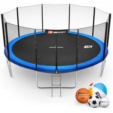 Батут детский Hop-Sport 16ft (488cm) blue с внешней сеткой