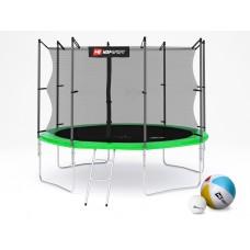Батут детский Hop-Sport 10ft (305cm) green с внутренней сеткой 4 ноги