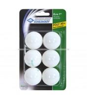 Мячи для настольного тенниса Donic Elite 1звезда 40+ (6шт.) plastic white