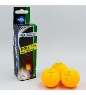 Мяч Donic Elite 1 звезда (комлект 3 шт.) 40+/ оранжевый