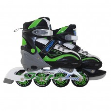 Роликовые коньки SportVida 4 в 1 SV-LG0035 Size 35-38 Black/Green/White