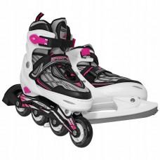Роликовые коньки SportVida 4 в 1 SV-LG0063 Size 39-42 Black/White/Pink