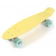 Скейтборд Meteor MATT yellow minth minth 23769