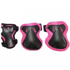 Комплект защитный SportVida SV-KY0006-S Size S Black/Pink