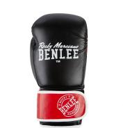 Боксерские перчатки CARLOS (черно-красно-белые) 10oz