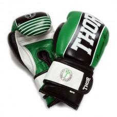 Боксерские перчатки THOR THUNDER (Leather) GRN 10 oz.