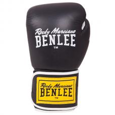 Боксерские перчатки Benlee TOUGH 10oz /Кожа /черные