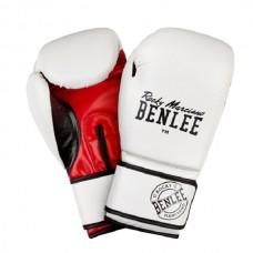 Боксерские перчатки Benlee CARLOS 10oz /PU/бело-черно-красные