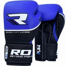Боксерские перчатки RDX Quad Kore Blue 14 ун.