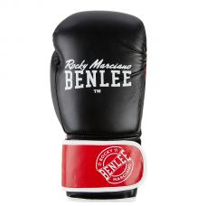 Боксерские перчатки CARLOS (черно-красно-белые) 14oz