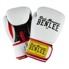 Боксерские перчатки Benlee DRACO 10oz /Кожа /бело-черно-красные