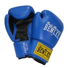 Перчатки боксерские Benlee FIGHTER 10oz /Кожа /сине-черные
