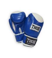 Боксерские перчатки THOR COMPETITION 10oz /PU /сине-белые