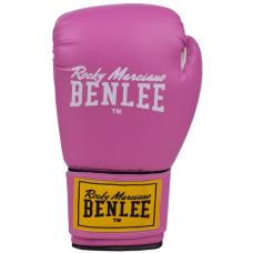 Боксерские перчатки RODNEY (розово-белые) 12oz