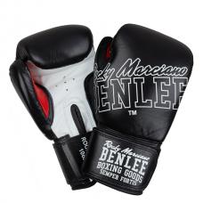 Боксерские перчатки ROCKLAND (черно-белые) 14oz
