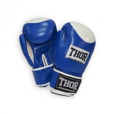 Боксерские перчатки THOR COMPETITION 10oz /Кожа /сине-белые