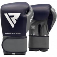 Боксерские перчатки RDX Leather Pro C4 Blue 12 ун.