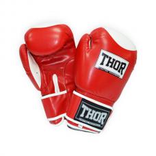 Боксерские перчатки THOR COMPETITION 16oz /Кожа /красно-белые