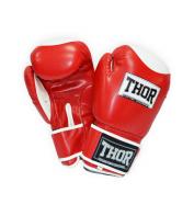 Боксерские перчатки THOR COMPETITION 12oz /PU /красно-белые