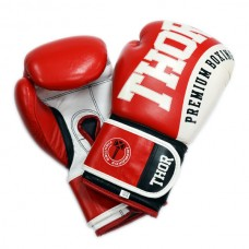 Боксерские перчатки THOR SHARK (PU) RED 12 oz.