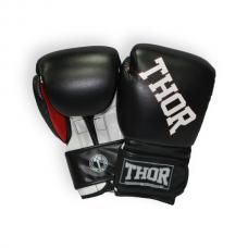 Боксерские перчатки THOR RING STAR 16oz /Кожа /черно-бело-красные