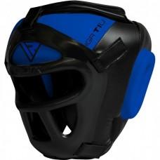 Боксерский шлем тренировочный RDX Guard Blue XL