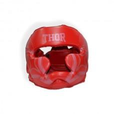 Шлем для бокса THOR COBRA 727 M /Кожа / красный