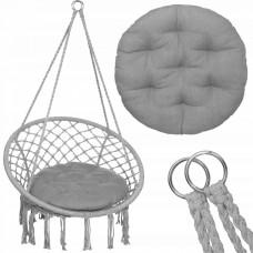 Подвесное кресло-качели (плетеное) с подушкой Springos SPR0027 Grey
