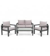 Комплект садовой мебели Brescia 2 Серый/Светло-серый