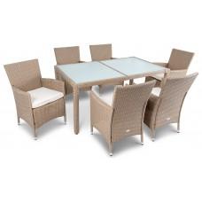 Садовая мебель di Volio VERONA 6+1 бежево-кремовая