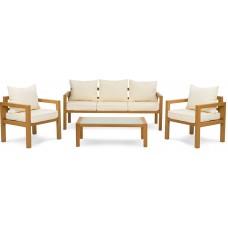 Комплект садовой мебели di Volio Brescia 3 Натуральный/кремовый