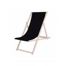 Шезлонг (кресло-лежак) деревянный для пляжа, террасы и сада Springos DC0001 BL