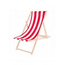 Шезлонг (кресло-лежак) деревянный для пляжа, террасы и сада Springos DC0001 WHRD
