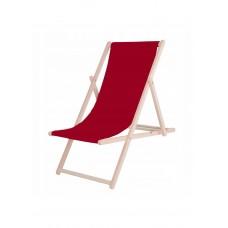 Шезлонг (кресло-лежак) деревянный для пляжа, террасы и сада Springos DC0001 BURGUND