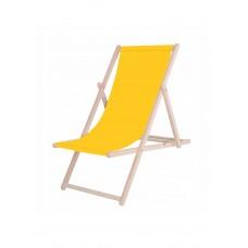 Шезлонг (кресло-лежак) деревянный для пляжа, террасы и сада Springos DC0001 YL