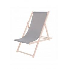Шезлонг (кресло-лежак) деревянный для пляжа, террасы и сада Springos DC0001 GRAY