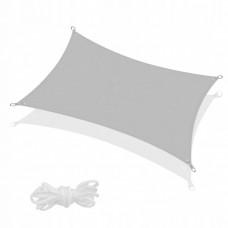 Тент-парус теневой для дома, сада и туризма Springos 4 x 2 м SN1047 Grey